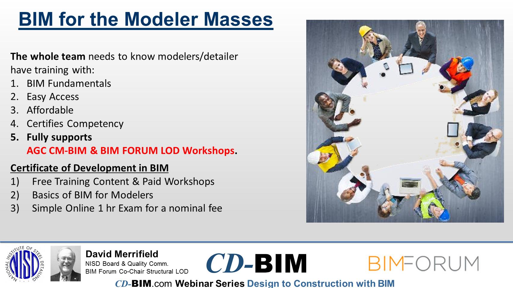 CD-BIM – Certificate of Development in BIM